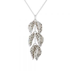 3-twin petal spotty pendant